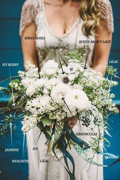 A Soft & Whimsical White Bridal Bouquet Recipe