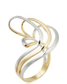 Δαχτυλίδι από κίτρινο & λευκόχρυσο Κ18