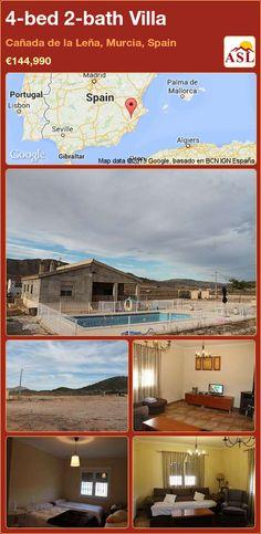 4-bed 2-bath Villa in Cañada de la Leña, Murcia, Spain ►€144,990 #PropertyForSaleInSpain