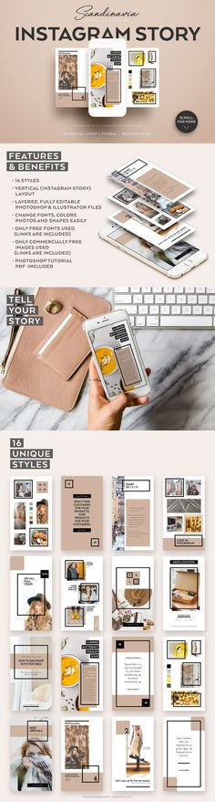 New nature design layout illustrations Ideas Corporate Branding, Social Media Branding, Social Media Design, Social Media Graphics, Office Branding, Instagram Design, Story Instagram, Instagram Story Template, Instagram Posts