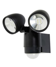 LEDlux Helley II Twin LED Spot Light with Sensor in Black