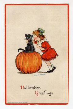 13 Adorable Vintage Cats Celebrating Halloween