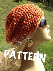 Ravelry: Slouchy Beanie Pattern pattern by Anna Anderson