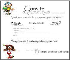 Gospel Infantil Modelos De Convites Para Culto Infantil Crianças