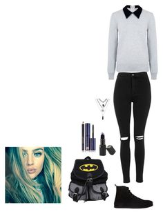 """Untitled #20"" by ashley-orie on Polyvore featuring Edit, Topshop, Ann Demeulemeester, Barry M and Estée Lauder"