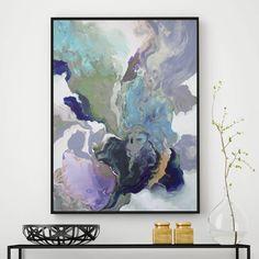 'ebony swirl' framed giclée abstract canvas print art by attikoart | notonthehighstreet.com