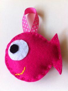 etsy  Happy Felt Christmas Fish Ornaments by LifeOfLeisureCrafts on Etsy