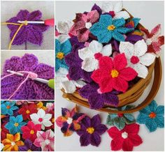 These bright and cheery Crochet Wildflowers are so versatile! Add them to a dress, a hat, or your blanket. It's a FREE Pattern and includes a small magnet version. Click HERE for the FREE Pattern from 'Evanescence' http://evanescencecrochet.blogspot.ca/2014/04/flowers-in-wild-flowers-aboundnow-that.html **Follow or Friend me at https://www.facebook.com/sherrie.ager.9 Join me at https://www.facebook.com/groups/healthylivingwithsherrie/