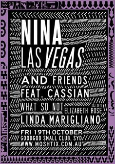 Nina Las Vegas and Friends @   http://www.stasheverything.com/event/nina-las-vegas-and-friends-goodgod-small-club/ | Stash Everything