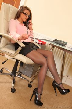 Office sex girls with sexy legs