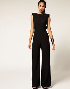 Image 1 of Aqua  Spock  Tailored Wide Leg Jumpsuit