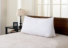 Amazon.com: Cheer Collection Super Comfortable and Plush Wedge Pillow for Reading in Bed or Sleep Elevation: Home & Kitchen