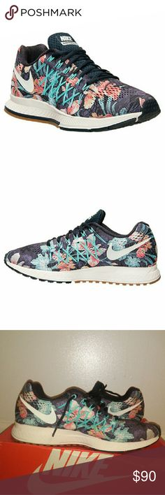 BRAND NEW NIKE ZOOM PEGASUS 32 Women's Nike Pegasus 32' FLORAL PHOTOSYNTHESIS BRAND NEW! soles of the shoe are missing.  (part which cushions your foot) . REASONABLE OFFERS ACCEPTED!!!! WOMENS 10! Warning may fit loose. Nike Shoes Sneakers