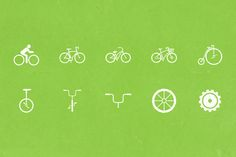 Bike Icons by The Warehouse on @creativemarket