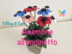 Spiegazione dell'Anemone all'uncinetto - YouTube
