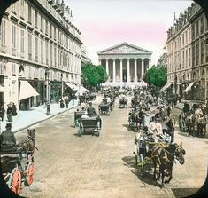 These beautiful hand-colored lantern photos prove that Paris hasn't changed all that much.