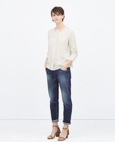 DARK WASH BOYFRIEND JEANS-Boyfriend-Jeans-WOMAN | ZARA United States