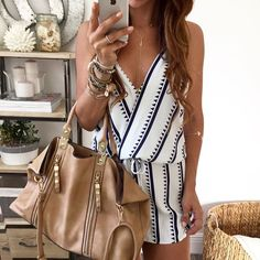 SF - love this pattern and deep V. Don't know if I could pull off a romper, but something like this I might try.