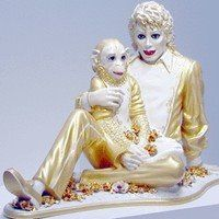 Jeff Koon's 1988 sculpture of Michael Jackson and Bubbles.