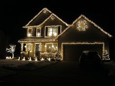 Of all the home businesses out there, Christmas Light Installation businesses may be one of the best kept secrets around. Most people think of hanging Christmas lights as a low paying, low potential, grunt work job, and therefore they Christmas Lights Outside, Christmas House Lights, White Christmas Lights, Hanging Christmas Lights, Classy Christmas, Decorating With Christmas Lights, Outdoor Christmas Decorations, Holiday Lights, Light Decorations
