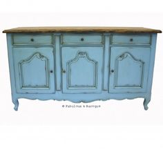 French Country Rustic Sideboard - French Blue