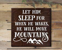 Let Him Sleep For When He Wakes Sign Boy Nursery Decor Rustic Nursery