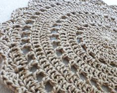 Jute Mandala Rug for Patio Porch Entryway  MADE TO ORDER