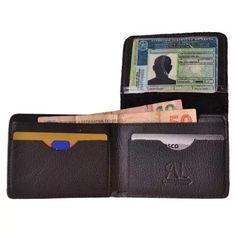 carteira pequena masculina de couro 546