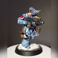 And I think I'm happy to call my very first Space Wolves Primaris done. Really chuffed with how he's come out. I've been back to 40k for about 6 weeks now, after being away from the game for around 15 years. Now just to do the rest of the box! #warhammer #warhammer40000 #warhammer40k #citadel #miniatures #citadelminiatures #tabletopgaming #gw #gamesworkshop #games #paintingwarhammer #primaris