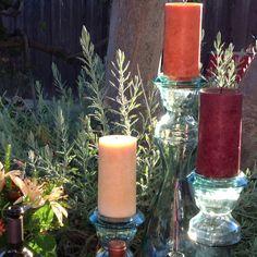 Fall colored candles #napa