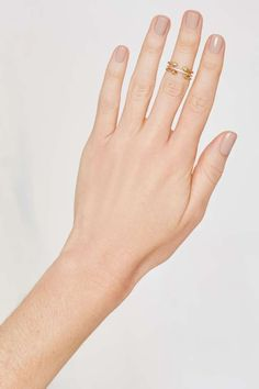 Luv AJ Barbell 14K Gold-Plated 3-pc Ring Set