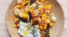 Orecchiette with Butternut Squash and Sage - I substituted Parmesan and Chia ... I think a fried egg would work ...