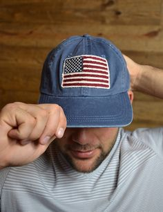 Show your American pride and love with this flag cap! 'Merica!