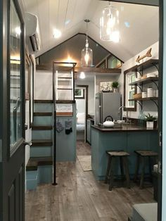 Remember the Indigo Tiny House? This is another model called Sweet Grass by Driftwood Homes USA. This model comes in at approximately $59,900.00 to $62,000.00 including all the decorative …