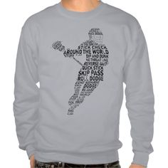 #Lacrosse Player #Typography Pullover Sweatshirts. To see this design on the full range of products, please visit my store: www.zazzle.com/gamefacegear*/ and click on the 'Lacrosse Designs' category.  #lax