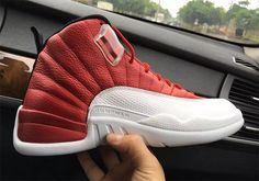 """The Air Jordan 12 """"Varsity Red"""" will release on July 2nd for $190 USD and features a red upper complete with metallic red eyelets. Style Code: 130690-600"""