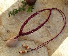 Macrame necklace with mookait jasper: http://www.makramama.meska.hu/