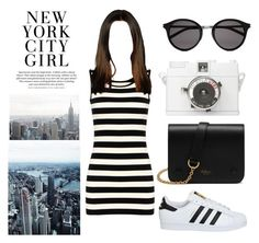 """""""New York"""" by elizabeth-xsomosmasqueamorr ❤ liked on Polyvore featuring Yves Saint Laurent, H&M, adidas, Lomography, Mulberry, Newyork, NYC and favoritecity"""