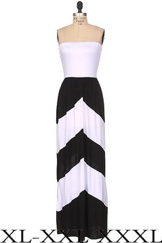 Black and White reversed Maxi Dress 1x, 2x, 3x. $59.00. Blondellamy'Dean is a boutique just for Curvy Girls. Sizes 10- 28. Specialty sizes up to a size 36. Use coupon code: pin10 for 10% off your first purchase on www.blondellamydean.com