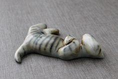 Michael Schilkin Flat Faced Cat Figurine Arabia Finland Kissa by tippleandsnack   Etsy
