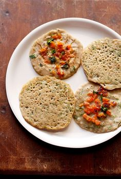 vrat ka uttapam recipe with stepwise photos. swang ke chawal ka uttapam is a fasting recipe which can be made for religious fasting days like ekadashi, navratri, mahashivratri or janmashtami fasting. i had come across this recipe Indian Beef Recipes, Veg Recipes, Cooking Recipes, Farali Recipes, Uttapam Recipe, Navratri Recipes, Millet Recipes, Vegetarian Breakfast Recipes, Indian Breakfast