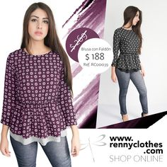 Linda blusa en dos colores  ¿Cuál prefieres?  #rennyclothes #berenny #model #twins #instagood #instasize #instafashion #trendy #clothes