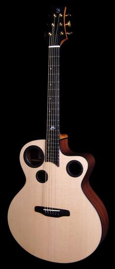 Richard Baudry Luna Jumbo Guitar - made in Estaires, France