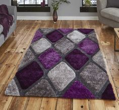 Noble House NH 9247 Grey / Purple Rugs (150 X 230cm)