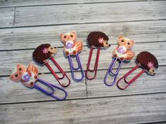 6 Super Cute Squirrels and Hedgehogs  Decorative by niknaxbyArlana, $3.25