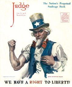 Judge Magazine Cover Uncle Sam 1918