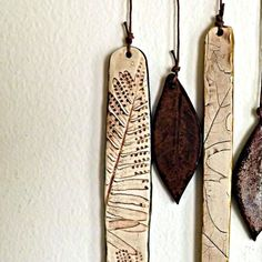 Porcelain and Stoneware Botanical Chimes, Copper and Sepia , Made to Order