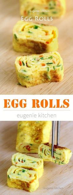 Egg Rolls (Tamagoyaki) Improve your cooking skills with this delicious Asian egg rolls. You will be delighted to add this healthy recipe to your cooking routine. Enjoy!