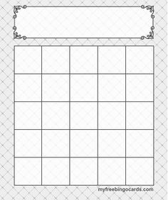 blank bingo editable template working life pinterest bingo