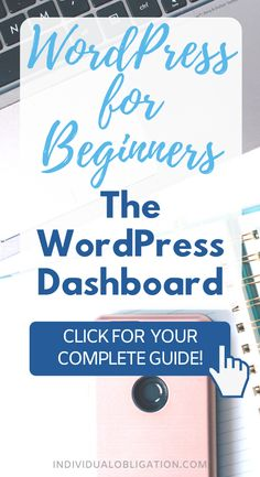 Starting a blog? This blogging for beginners WordPress tutorial will cover all the WordPress tips you need to know to use the WordPress dashboard. The WordPress admin dashboard is what controls your WordPress blog settings and design. Which is why it is so important to learn this tutorial. This blogging tips 101 guide will show you how to use and customize your WordPress dashboard as a WordPress beginner blogger. #Blogging #BloggingForBeginners #StartABlog #WordPressTips #BlogTips Learn Wordpress, Wordpress Admin, Wordpress Plugins, Wordpress Website Design, Blogging For Beginners, Make Money Blogging, Blog Tips, Need To Know, How To Start A Blog